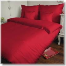 Piros 3 részes pamutszatén ágyneműhuzat