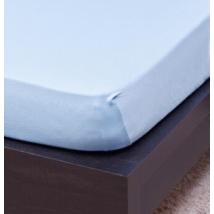Világos kék ovis méretű gumis pamut lepedő