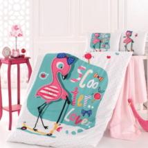 Flamingo pamut ovis ágyneműhuzat