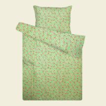Zöld kutyás  flanel ovis ágyneműhuzat