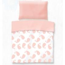 Rózsaszín bálna pamut gyerek ágyneműhuzat