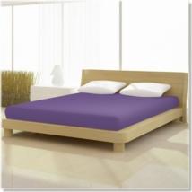 lila szürke pamut elastan classic gumis lepedő alacsony matracra