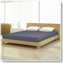 Antracit szürke pamut elastan classic gumis lepedő alacsony matracra