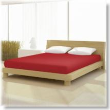 Pamut jersey classic gumis lepedő cseresznye piros 140x200 és 160x200 cm-es matracra