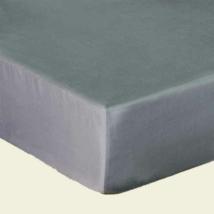 Grafit szürke pamutszatén gumis lepedő 140*200
