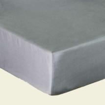 Platina szürke pamutszatén gumis lepedő 180x200