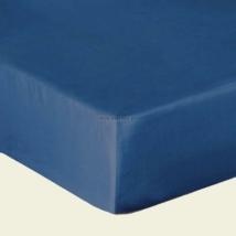 Sötét kék pamutszatén gumis lepedő 160x200