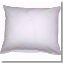Fehér vastag csíkos mako- damaszt kispárnahuzat, 40*50 cm