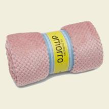 Matt rózsaszín nagy méretű puha mikroszálas pléd