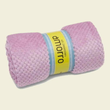 Rózsaszín nagy méretű puha mikroszálas pléd