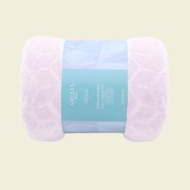 Púder rózsaszín puha magában mintás ovispléd (70x150)