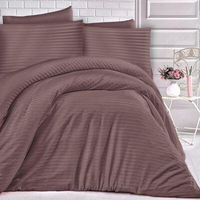barna csíkos damaszt ágyneműhuzat