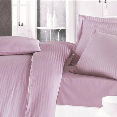 Fáradt rüzsaszín pamut damaszt lepedő damaszt szövéssel egyszemélyes ágyra