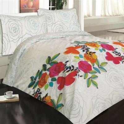 modern virágos luxus pamut ágyneműhuzat