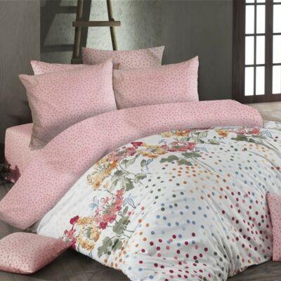 Pöttyös virágos luxus pamut ágyneműhuzat