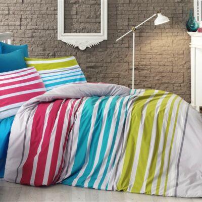 Vidám színes csíkos luxus pamut ágyneműhuzat - Ajándék gyerekeknek 77ed76bd01