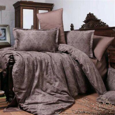 Kaval barna mintás pamutszatén ágyneműhuzat