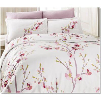 Rózsaszín tavasz pamutszatén ágyneműhuzat