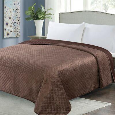 Csoki barna kétoldalas steppelt ágytakaró