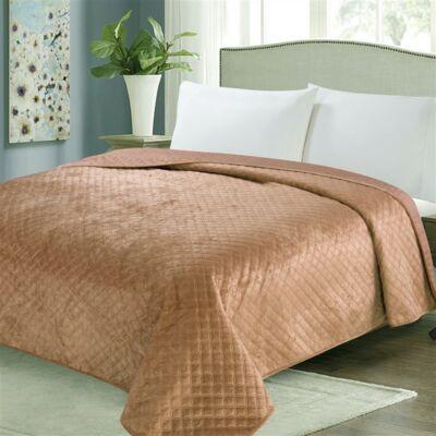 Világos barna kétoldalas steppelt ágytakaró