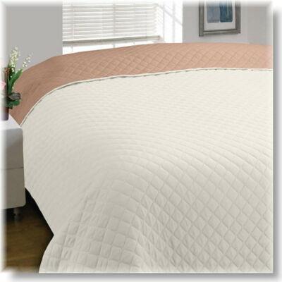 Bézs-ekrü kétoldalas steppelt ágytakaró