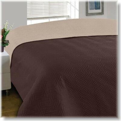 Kapucsinó barna kétoldalas ágytakaró