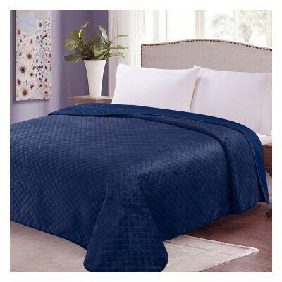 Acél kék kétoldalas steppelt ágytakaró
