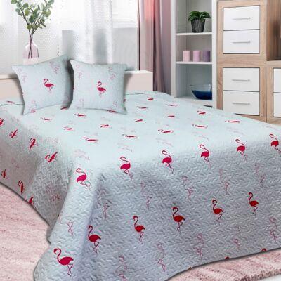 Flamingo mintás ágytakaró franciaágyra