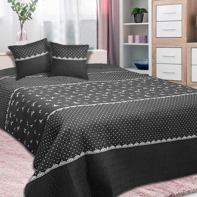 Romantikus mintás ágytakaró franciaágyra