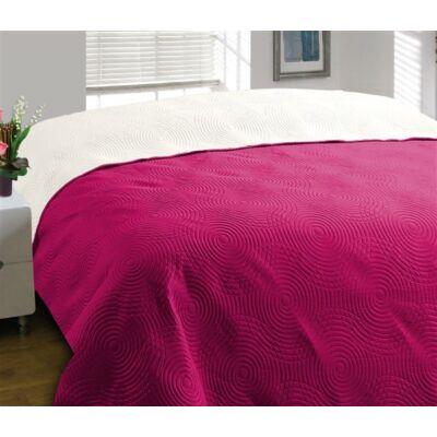 Kétoldalas steppelt pink ágytakaró (170x210 cm)