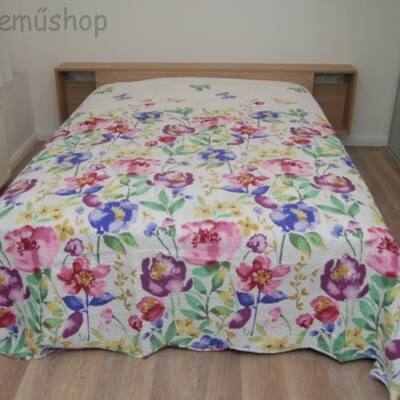 nyári virágos ágytakaró francia ágyra