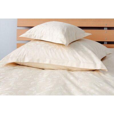 Bézs jacquard mintás damaszt  dupla ágynemű