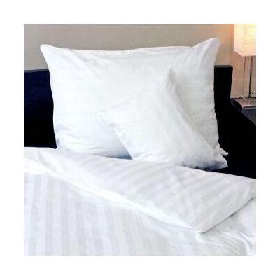 Fehér damaszt széles csíkos félpárnahuzat, 50*70 cm