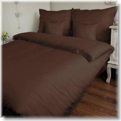 Csokibarna  pamutszatén ágyneműhuzat