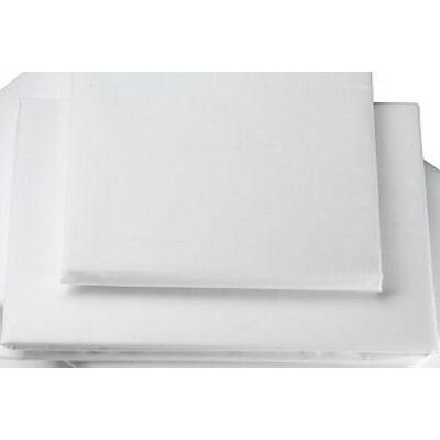 Fehér pamutszatén kétszemélyes lepedő