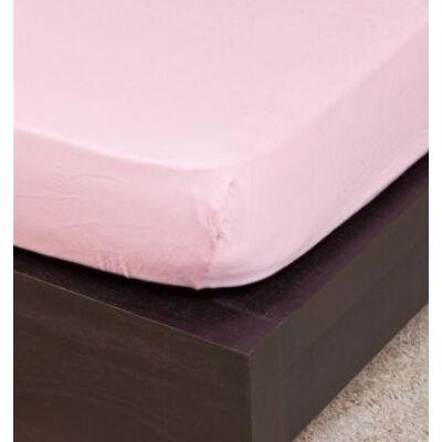 Rózsaszín ovis méretű gumis pamut lepedő