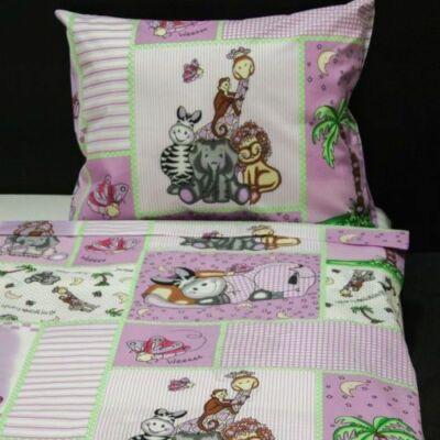 Állatkeretes ovis pamut ágyneműhuzat