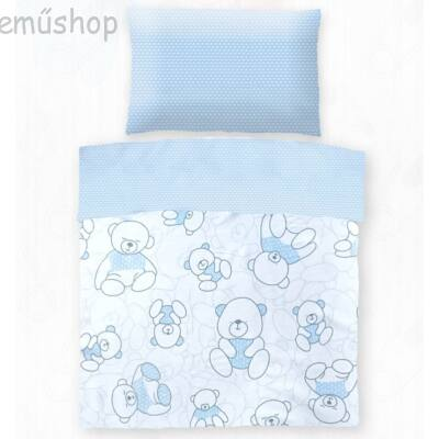 Kék macis gyerek pamut ágyneműhuzat