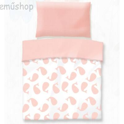 Rózsaszín bálna ovis pamut ágyneműhuzat