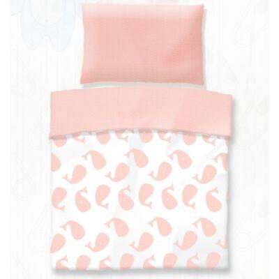 Rózsaszín bálna pamut gyerek ágyneműhuzat - Ajándék gyerekeknek 9257f9e383