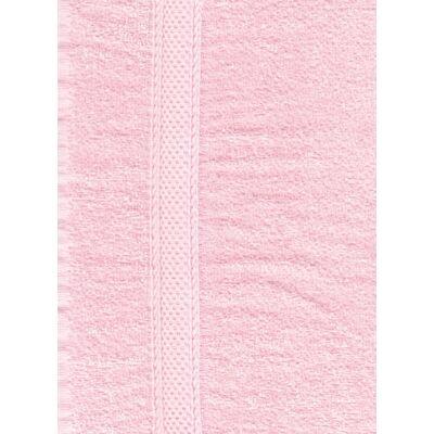 Rózsaszín frottír törölköző