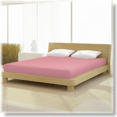Pamut jersey de luxe gumis lepedő 120x200 és 130x200 cm-es matracra rózsaszín