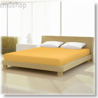 Kukorica sárga 90x200 cm-től 100x200cm-ig basic pamut jersey gumis lepedő