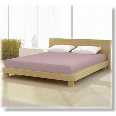 Pamut jersey de luxe gumis lepedő 120x200 és 130x200 cm-es matracra fáradt rózsaszín