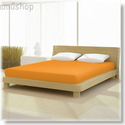 Mandarin színű 180x200cm-től 200x200cm-ig basic pamut jersey gumis lepedő