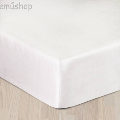 Fehér szürke pamutszatén gumis lepedő