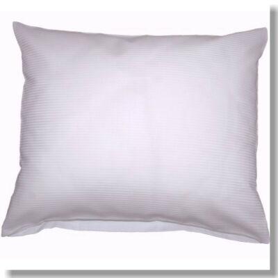 Fehér vékony hajszál mako- damaszt kispárnahuzat, 40*50 cm