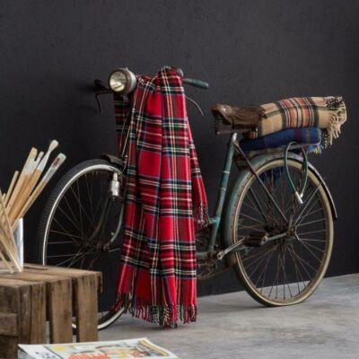 piros kockás piknik pléd  takaró