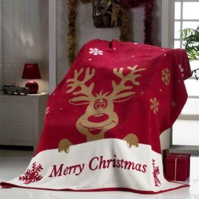 Rudolf rénszarvas karácsonyi pléd