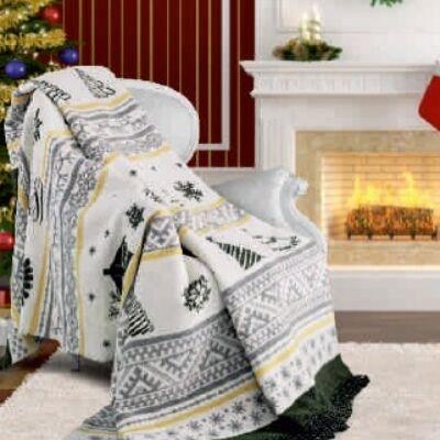 Fenyő mimtás karácsonyi pléd